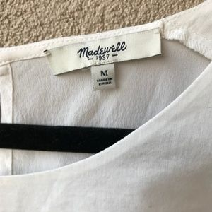 Madewell Tops - Madewell Pure White Sunbask Tank Top